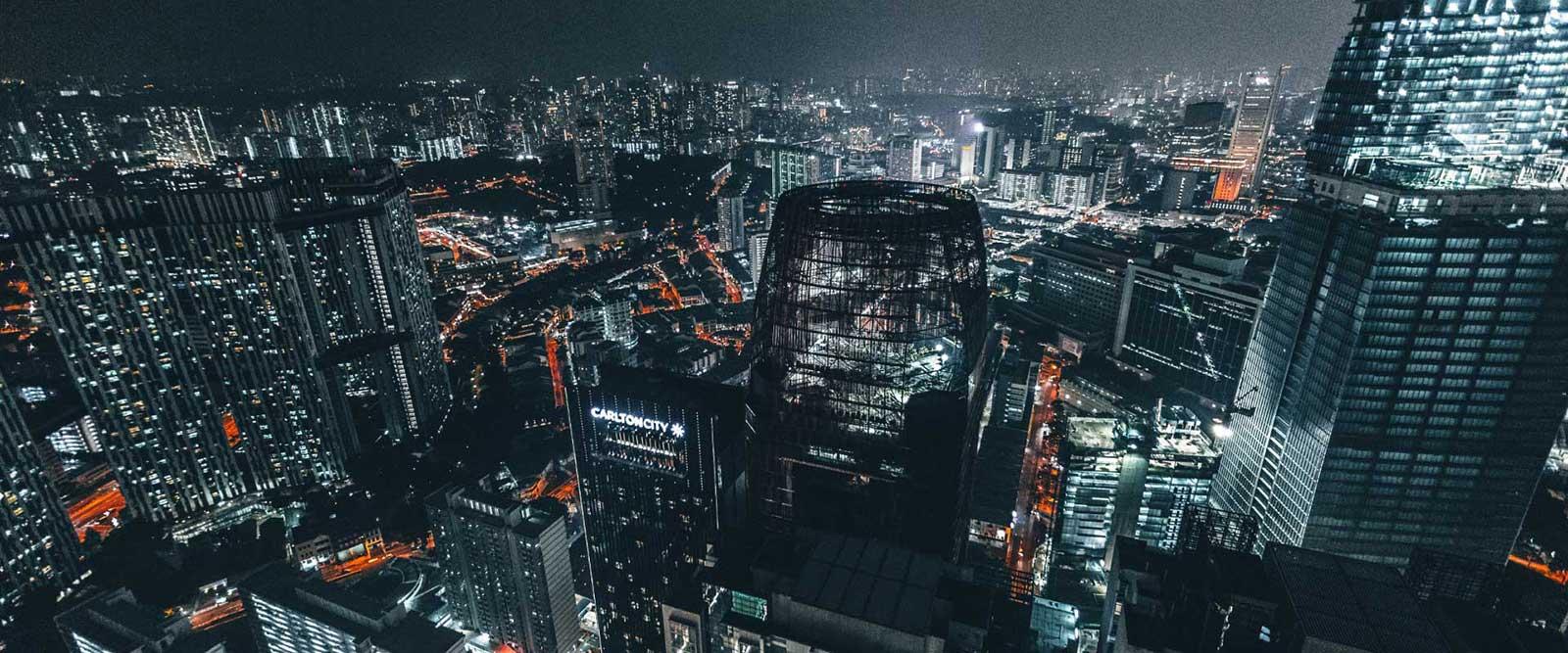 Large cityscape background